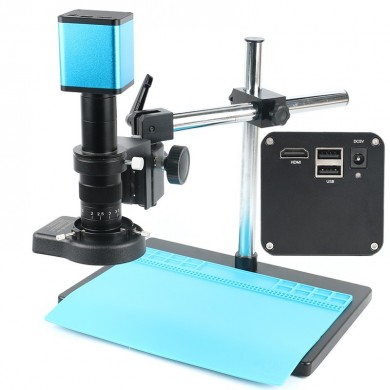 2019 FHD 1080P Industry Autofocus IMX290 Video Microscope Camera U Disk Recorder CS C Mount Camera For SMD PCB Soldering