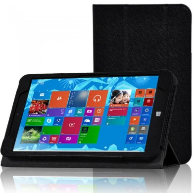 Tri-fold Folio PU Leather Case Stand Cover For CHUWI VI8
