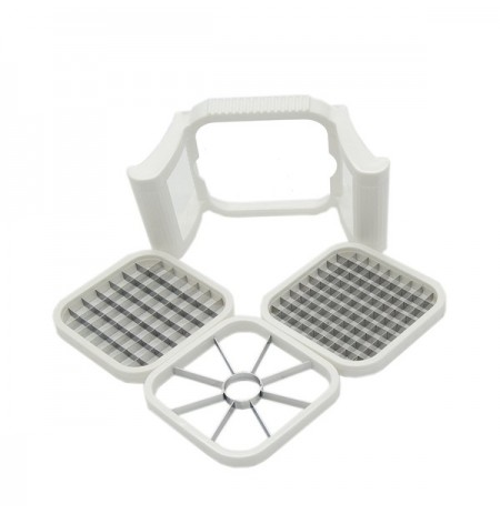 KCASA KC-AP06 Multi-function Detachable 3 Blade Potato French Fried Slicer Cutter Apple Core Remover