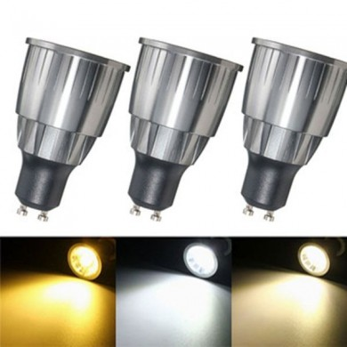 LED Ultra Bright Dimmable 7W 600Lm GU10 COB LED Spotlightt Ampoule AC 110 / 220V