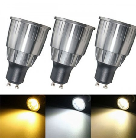 LED Ultra Bright Regulable 7W 600Lm GU10 COB LED Bombilla Spotlightt AC 110 / 220V