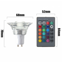 E27/GU10 4W Color Changeing RGB LED Magic Bulb Lamp Spotlightt Remote 85-265V