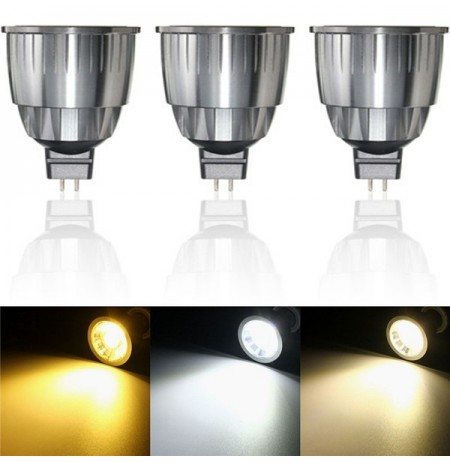 Ultra Bright LED 7W blanc pur blanc chaud blanc naturel COB LED Spot Lightt ampoule DC12V