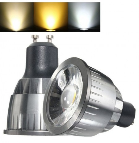 GU10 3W Ultra Lumineux LED COB Blanc Pur Blanc Chaud Spot Lightting Ampoule AC85-265V