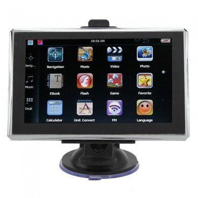 5 Inch GPS Navigation AV IN with Bluetooth Function FM 4GB Memory