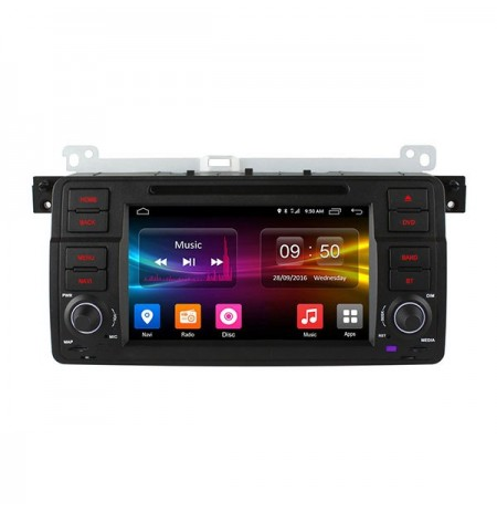 Hd 7inch 4g wifi coche dvd player android 6.0 quad core C500 OL-7956F Propietario GPS Para BMW E46 M3