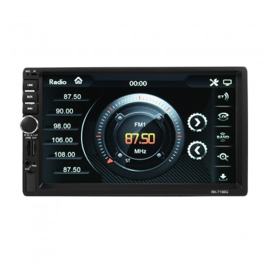 7 Inch GPS HD Touch Screen MP5 Player Bluetooth FM RDS Quick Charge Mirror Link Cam