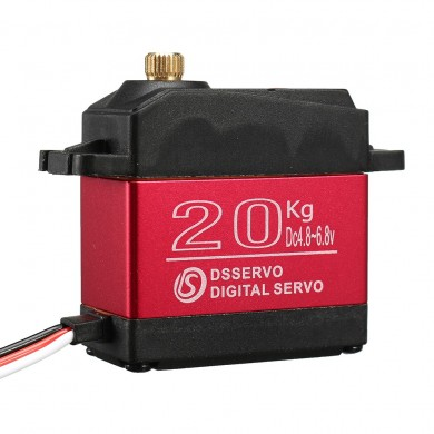 DSSERVO DS3218MG Waterproof 20KG High Speed Metal Gear 180°/270° Digital Servo For 1/8 1/10 1/12 Scale RC Cars