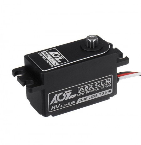 AGF A62CLS HV 12kg CNC Coreless Metal Gear Short-body Digital Servo For 1:8 1:10 RC Car