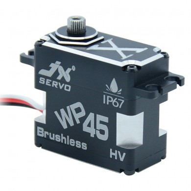 JX Servo WP45 HV 45KG Brushless Waterproof IP67 Metal Gear Digital Servo For RC Car Helicopter Airplane