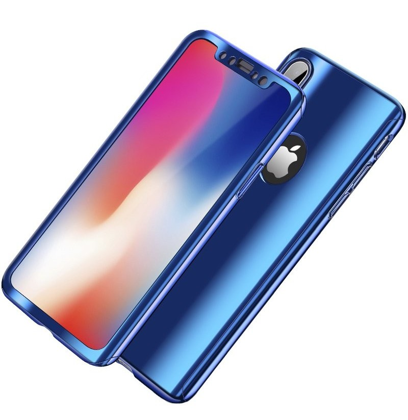 Bakeey Plating 360° Full Body Case+Tempered Glass Film For iPhone XR/XS/XS Max/X/8/8 Plus/7/7 Plus/6s/6s Plus/6/6 Plus (Color: Red, Apple Model: iPhone 6 Plus/6s Plus) фото