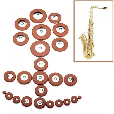 Tenor Saxophone Leather Pads Set Musical Instruments Accessories