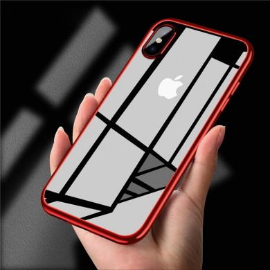 Bakeey Clear Plating Soft Custodia protettiva in TPU per iPhone X / XR / XS/XS Max