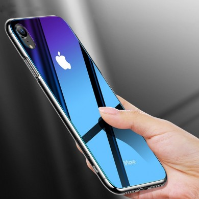 Cafele Gradient Tempered Glass Protective Case For iPhone X/XR/XS/XS Max Scratch Resistant Back Cover