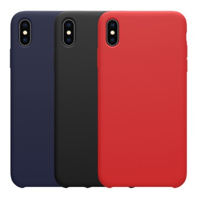 NILLKIN Soft Smooth Shockproof Liquid Silicone Cover protettiva in gomma per iPhone XS
