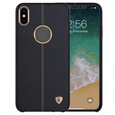 NILLKIN Elegant PU Leather Shockproof Hard PC Back Cover Protective Case for iPhone XS