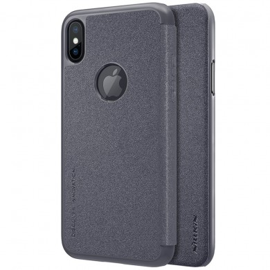 NILLKIN Flip Shockproof PU Leather + Hard PC Full Body Cover Protective Case for iPhone X / XS