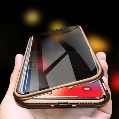 Bakeey Anti-peeping Magnetic Adsorption Metal Double-sided Tempered Glass Protective Case For iPhone X/XS/XR/XS Max/7/8/7 Plus/8