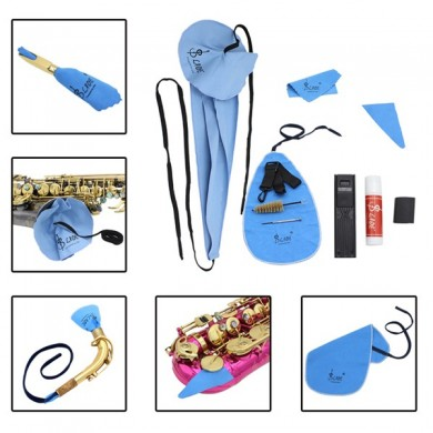 Saxophone Sax Cleaning Tool Case Kit di pulizia Accessori per sassofono