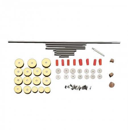 Flute Repair Parts Set Tools Screws Silica Bumpers
