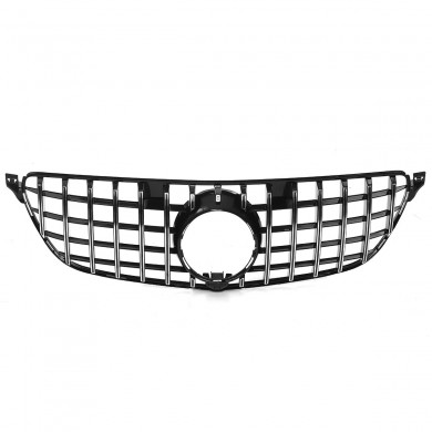 Silver SUV Front Bumper Grille GT R Type Grill For 2016-2018 Mercedes Benz GLE W166