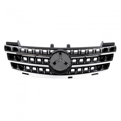 Glossy Front Hood Grill Grille For Mercedes Benz ML Class W164 ML320 ML350 ML550 2005-2008