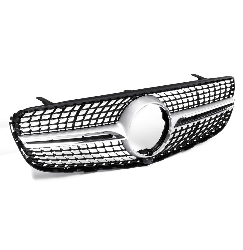 Silver Diamond Front Grill Grille Para Mercedes Benz GLC