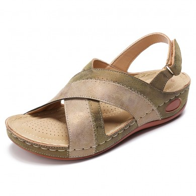 Cross Wedge Sandals
