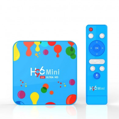 H96 Mini H6 Allwinner H6 4GB RAM 32GB ROM 5G WIFI bluetooth 4.0 Android 9.0 4K 6K TV Scatola