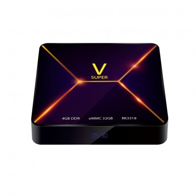 Super V RK3318 4ГБ RAM 32GB ПЗУ Bluetooth 4.0 Android 9.0 4K VP9 ТВ Коробка