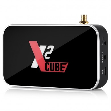 X2 Cube Amlogic S905X2 2GB DDR4 RAM 16GB ROM Android 9.0 4K USB 3.0 TV Scatola