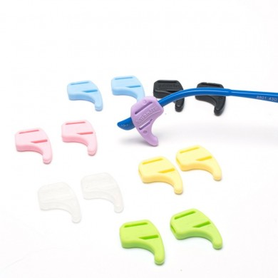 1 par Colorful Silicona antideslizante Gafas cubierta Temple Tips