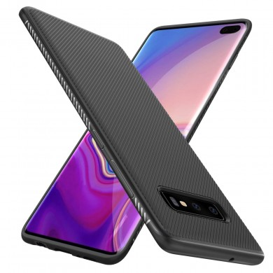 Bakeey Carbon Fiber Protective Case For Samsung Galaxy S10 Plus Shockproof Soft TPU Back Cover