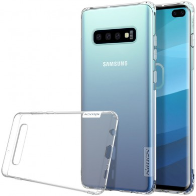 NILLKIN Transparent Shockproof Anti-slip Soft TPU Back Cover Protective Case for Samsung Galaxy S10 Plus / S10+