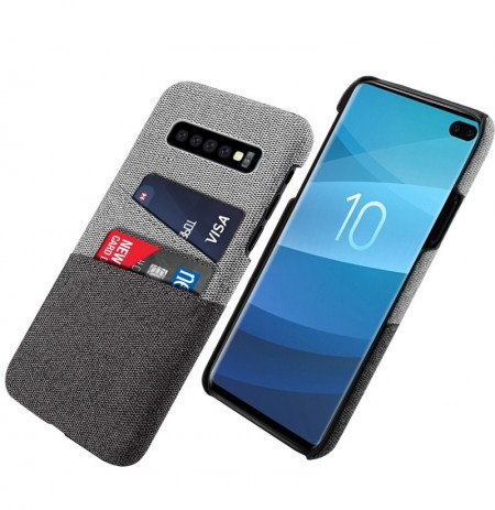 Bakeey Fabric Card Holder Shockproof Protective Case For Samsung Galaxy S10 Plus