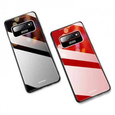 Bakeey Luxury Lycra Series Shockproof Tempered Glass Back Cover Protective Case for Samsung Galaxy S10 Plus