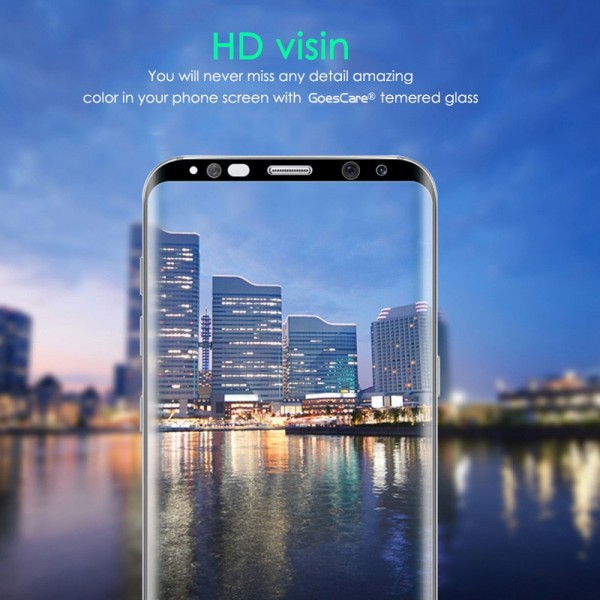 Bakeey 3D Curved Edge Tempered Glass Film With Transparent TPU Case for Samsung Galaxy S8 Plus