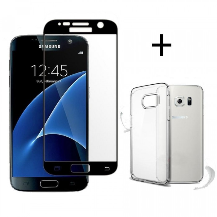 Bakeey 3D Curved Edge Tempered Glass Film With Transparent TPU Case for Samsung Galaxy S7