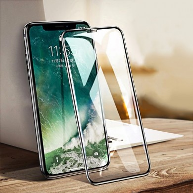 Bakeey 6D Arc Edge Cold Carving Anti Fingerprint Tempered Glass Screen Protector for iPhone XS Max
