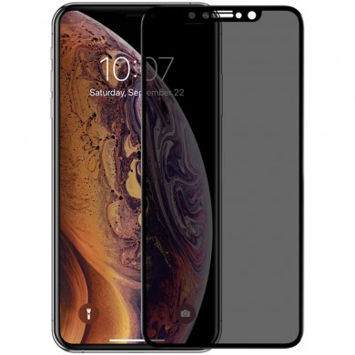 NILLKIN AP+ MAX 3D Curved Anti-peep Anti-explosion Tempered Glass Screen Protector for iPhone XS MAX