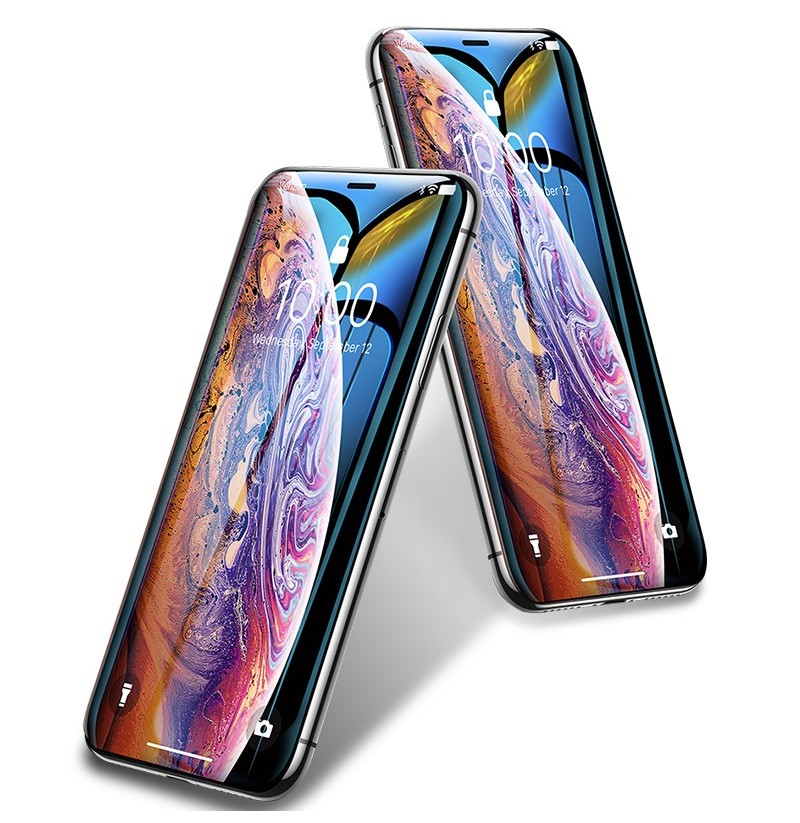 Bakeey 10D Curved Edge Cold Carving Scratch Resistant Tempered Glass Screen Protector For iPhone XS Max (Color: Black) фото