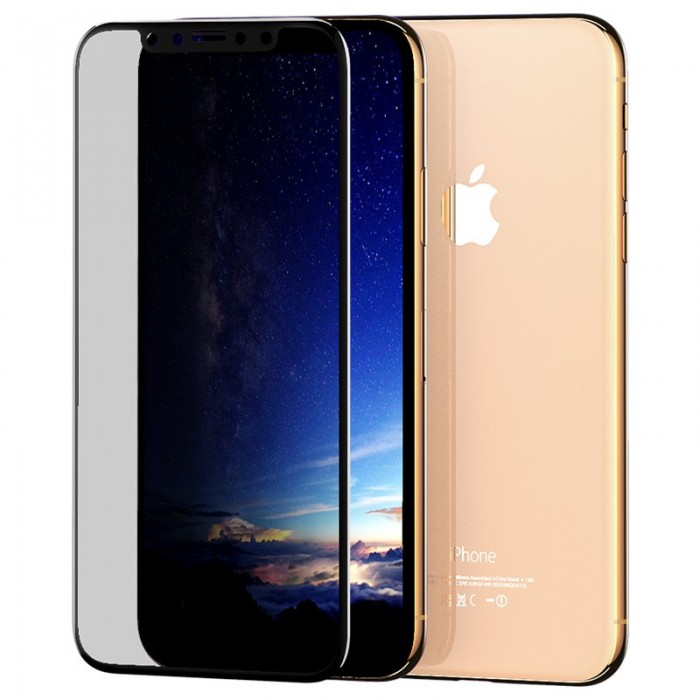 Rock Anti-peeping Tempered Glass Screen Protector For iPhone X/XS/XS MAX