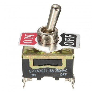 SPST 2Pin ON / OFF Heavy Duty Toggle Flick Switch 250V 15A