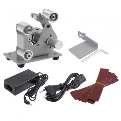 DIY Mini Belt Sander Machine Electric Polisher Automatic Adjustment Elastic Knife Apex Edge Sharpener Machine