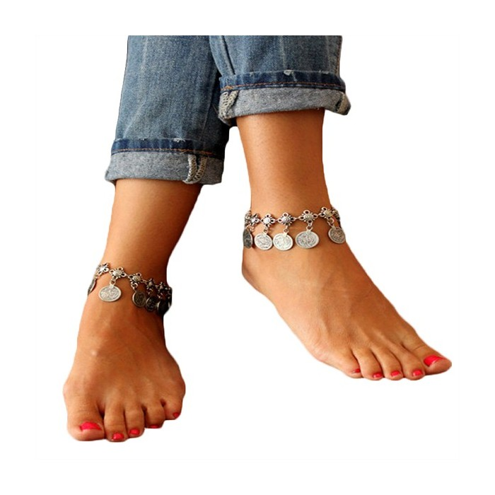 new wholesale charm for sandals heart by online women barefoot ankle anklet anklets bracelet foot chain jewelry double dhgate product cheap wdshop cheville layers