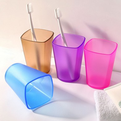 Honana Eco-friendly Japanese-style Thick Circular Cups Toothbrush Holder Cup Translucent Frosted Rinsing Cup Wash Tooth Mug