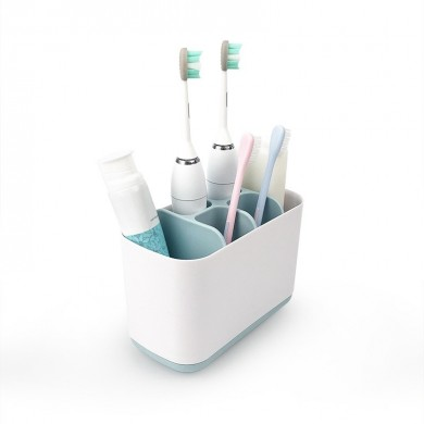 Home Bathroom Toothbrush Toothpaste Holder Stand Plastic Storage Rack Organizer