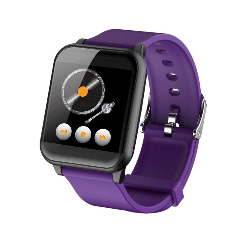 Bakeey Z02 Custom Display PPG Heart Rate Weather Instant Message Remind Smart Watch (Color: Purple)