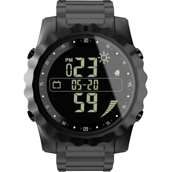 Bakeey MK08 Full-touch FSTN Screen Real-time Weather Display Call Message Reminder Alarm Clock Digital Smart Watch