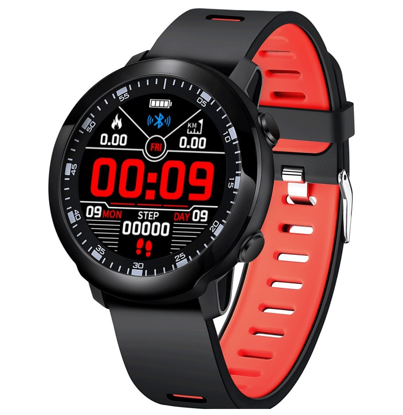 Bakeey SW05 Full Round Touch Music Control Decline Call Message Reminder Blood Pressure Smart Watch (Color: Black) фото